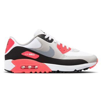 Nike Air Max 90G Golf Shoes - White/Cool Grey/Black/Neutral Grey/Infrared