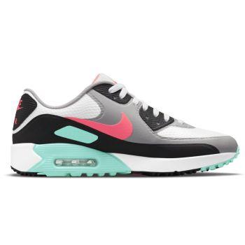 Nike Air Max 90G 'South Beach' Golf Shoes - White/Hot Punch/Black/Aurora Green