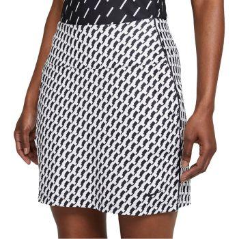 "Nike Women's Dri-FIT UV Victory Printed 17"" Golf Skirt - Black/White"