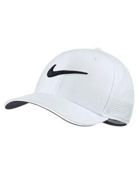 Nike Classic99 Mesh Golf Cap - White/Black