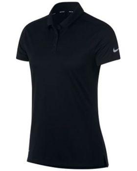 Nike Women's Dri-Fit Polo Shirt - Black/Flat Silver
