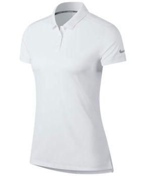 Nike Women's Dri-Fit Polo Shirt - White/Flat Silver