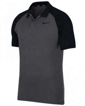 Nike Dry Raglan Polo Shirt - Gunsmoke/Black
