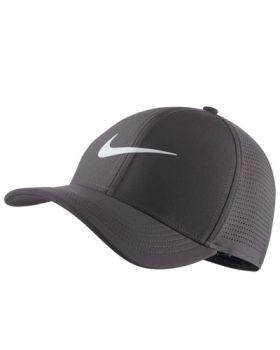 Nike AeroBill Classic 99 Golf Cap - Gunsmoke/Anthracite/White