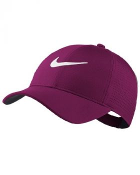 Nike Women's AeroBill Legacy91 Perforated Golf Cap - True Berry/White