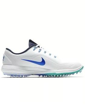 Nike Lunar Control Vapor 2 Golf Shoes - White/ Emerald/ Royal