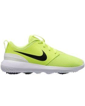 Nike Junior's Roshe Golf Shoes - Volt/White/Black
