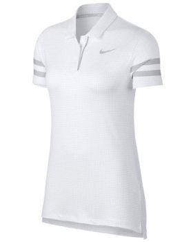 Nike Women's Dri-Fit Printed Polo Shirt - White