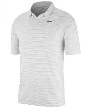 Nike Dri-Fit Tiger Woods Stripe Polo Shirt - White/Black