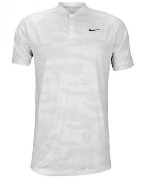 Nike Tiger Woods Zonal Cooling Camo Polo Shirt - White/Black