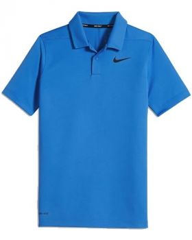 Nike Junior Dry Victory Polo - Photo Blue/Black