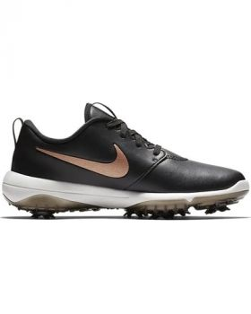 Nike Women's Roshe G Tour Golf Shoes - Black/Summit White/Metallic Red Bronze