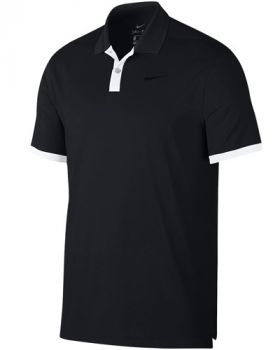 Nike Dry Vapor Solid Polo Shirt - Black/White