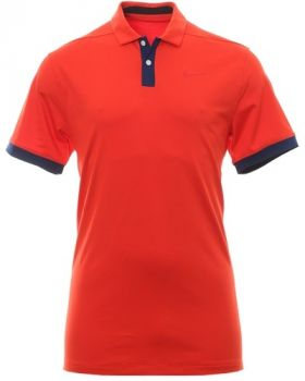 Nike Dry Vapor Solid Polo Shirt - Habanero Red/Blue Boid