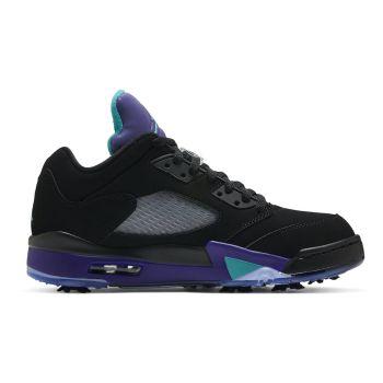 Nike Air Jordan 5 Low Golf Shoes - Black/Grape