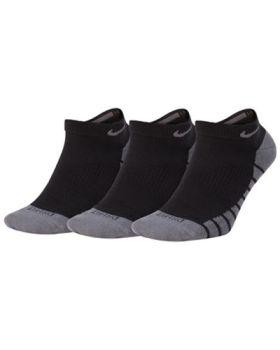 Nike Lightweight No Show 3-Pairs Socks - Black/Dark Grey