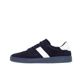 J.Lindeberg Men's Suede Sneaker - SS21 - Navy