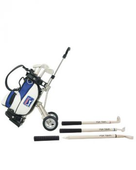 PGA TOUR MODEL GOLF BAG & CART PEN HOLDER