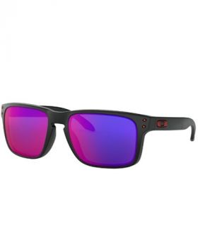Oakley Holbrook Sunglasses - Matte Black Frame/Positive Red Iridium