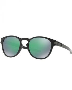 Oakley Latch Sunglasses - Matte Black Frame/Prizm Jade Lens