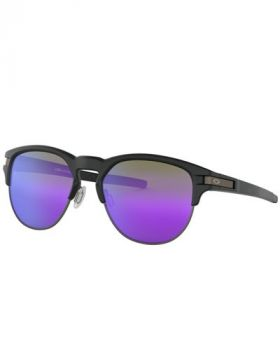 Oakley Latch Key M Sunglasses - Matte Black Frame/Violet Iridium Lens