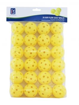 PGA TOUR 24PK AIR FLOW GOLF BALLS - YELLOW