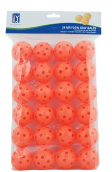 PGA TOUR 24PK AIR FLOW GOLF BALLS - ORANGE