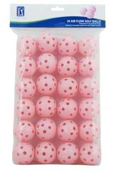 PGA TOUR 24PK AIR FLOW GOLF BALLS - PINK