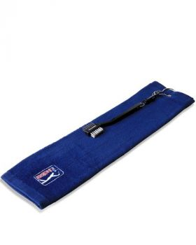 PGA TOUR GOLF TOWEL WITH CLUB BRUSH