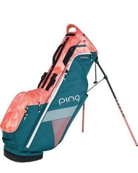 PING Women's Hoofer Lite Stand Bag - Storm Coral/Bloom