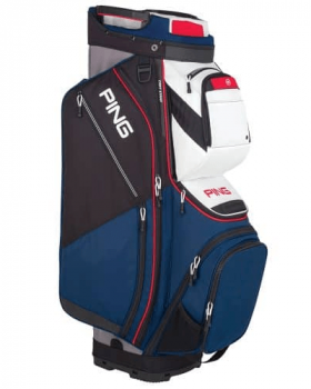 Ping Pioneer 191 Cart Bag - Navy/White/Scarlett