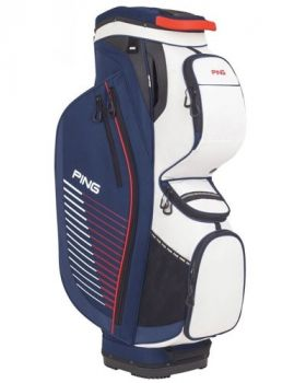 Ping 2018 Traverse 164 Cart Bag - Navy/ White/ Red
