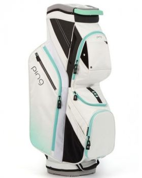 Ping 2018 Traverse 164 Cart Bag - White/Mint