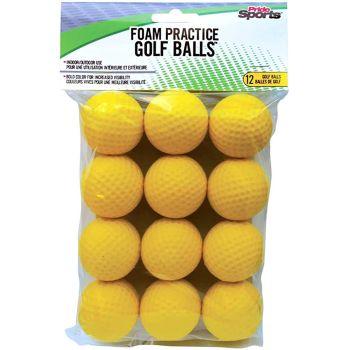 Pride Sports Foam Practice Balls - 12balls - Yellow