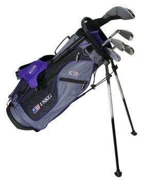 Us Kids Golf Ul54-U 5 Club All Graphite Stand Bag Set LH - Purple