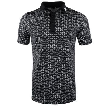 PXG Men's Crossed Driver Polo (Athletic Fit) - Black/White
