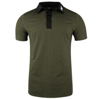 PXG Men's Crossed Driver Polo (Athletic Fit) - Military Green