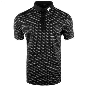 PXG Men's Flag Polo (Athletic Fit) - Black/White