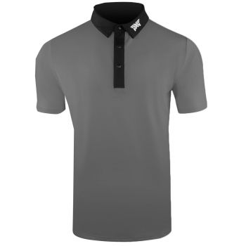 PXG Men's Collar Polo (Athletic Fit) - Gray/Black