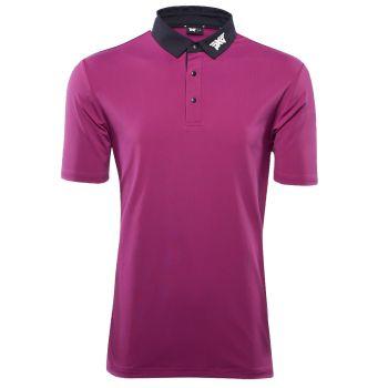 PXG Men's Royal Plum Black Collar Polo - Purple