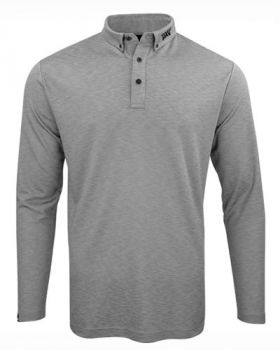 PXG Relaxation Long-Sleeve Polo - Gray