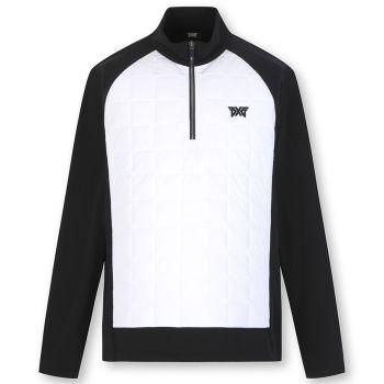 PXG Men's Hybrid Thin Padding Half Zip-Up jacket - Black/White