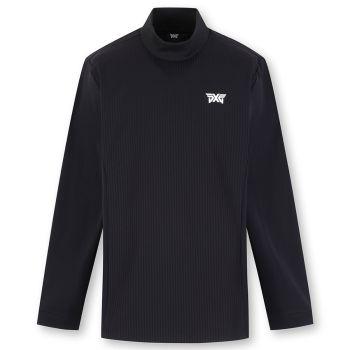 PXG Men's Turtle Neck Long Sleeve T-Shirt - Black