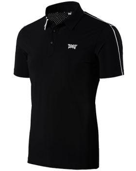 PXG Mens Shoulder Line Golf Polo - Black