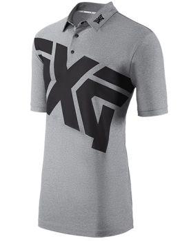 PXG Men's Big Logo Golf Polo - Gray