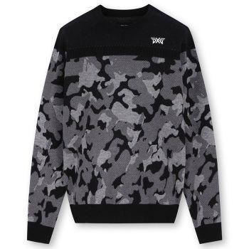 PXG Men's Camo Sweater - Black
