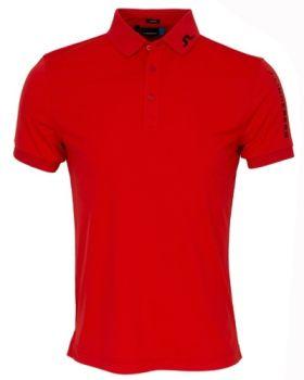 J. Lindeberg M Tour Tech TX Jersey Polo Shirt - Racing Red