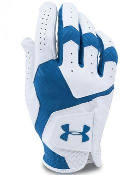 UNDER ARMOUR COOLSWITCH GOLF GLOVES RIGHT HAND (FOR THE LEFT HANDED GOLFER) - WHITE/SQUADRON
