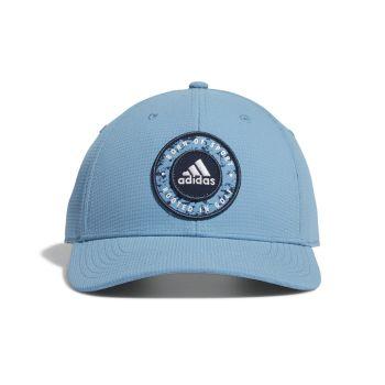 Adidas Men's Circle Patch Snapback Hat - Hazy Blue