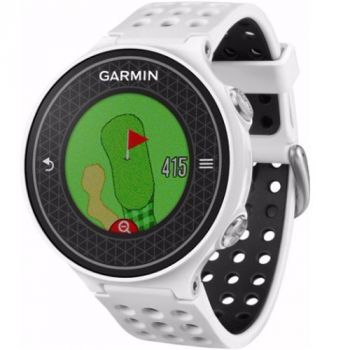 Garmin S6 Golf GPS Watch w/ Tempo Training & PinPointer - White